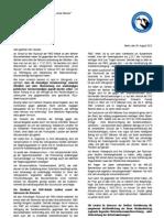 Offener Brief von Vertrauensleuten des Volksentscheids Unser Wasser an Finanzsenator Nußbaum