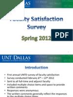 Unt Dallas Faculty Satisfaction