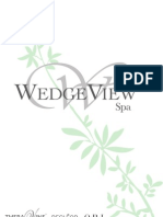 WedgeView Spa Brochure 2012