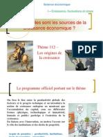 Thème 2 Les sources de la croissance 2012-2013
