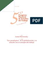 """""""Los paradigmas"""" de la globalización y su relación con el concepto del trabajo-Lionel Korsunsky"""