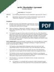 Covenant Re Shareholders Agreement (Transferor Released)