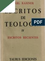 Rahner, Karl - Escritos de Teologia 04