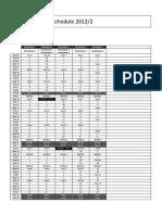 Intensive Schedule 2012-2
