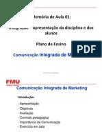 Comunicação Integrada de Marketing - Memória de Aula 1 - 2012 2 (1)