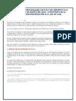 PAC Del Impuesto a La Renta a Partir de Agosto Del 2012