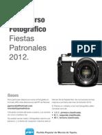 Cartel Concurso de Fotografía Fiestas 2012