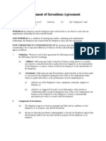 Assignment of Inventions Agreement
