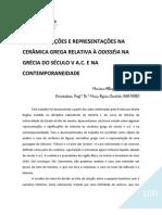 AS SIGNIFICAÇÕES E REPRESENTAÇÕES NA CERÂMICA GREGA RELATIVA À ODISSÉIA NA GRÉCIA DO SÉCULO V A.C. E NA CONTEMPORANEIDADE