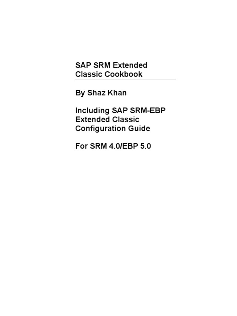 SAP SRM Extended Classic Cookbook   Taxes   Software