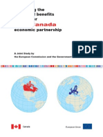 Joint Study on EU Canada Economic Partnership