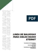 4 BALDOSAS CIELOS RASOS