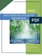 Tratamiento de Aguas Con Biomembranas