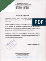 Nota de Prensa Yuste
