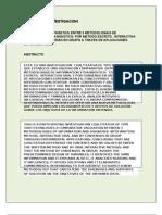 Investigacion sobre validación de métodos de diagnóstico de información