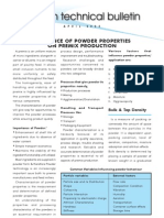 Effect of Powder Properties in Premix