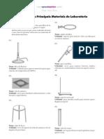 Descrição dos Principais Materiais de Laboratório