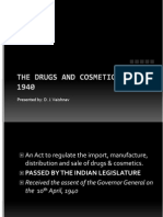 Drug and Cosmetic Act 1940 - I