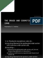 Drug and Cosmetic Act 1940 - II