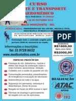Curso de Resgate e Transporte Aeromedico Outubro 2012