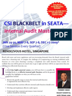 CSI Blackbelt in SEATA - Internal Audit Master Class (Singapore), featuring Mr. TOMMY SEAH