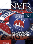 University of Denver Magazine Fall 2012 issue