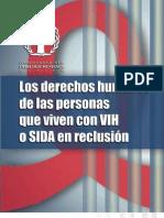 17 cartilla DH personas viven VIH sida reclusión