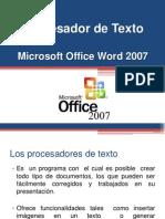 Procesador de Texto Word 2007