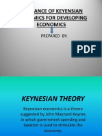 Relevance of Keyensian Economics for Developing Economics