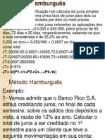 Aula dia 28 de Agosto - Mat Financeira- Adm Empresas- Método Hamburguês