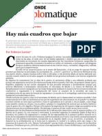 7.b. Le Monde Diplomatique - Hay Mas Cuadros Que Bajar