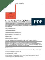 Shakespeare - Le Marchand de Venise