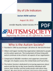 The Autism Society of America Webinar with Autism NOW August 28, 2012