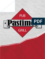 Pastimes Pub Menu