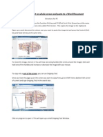 how to copy part or whole screen and paste to a word document