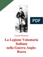Camillo Richiardi, La Legione Italiana Nella Guerra Anglo-Boera