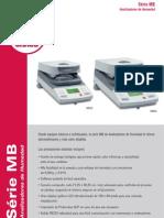 Ficha Tecnica de Analizador de Humedad MB45 OHAUS