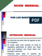 Intencion Mensual Los Maestros
