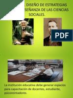 DISEÑO DE ESTRATEGIAS PARA LA ENSEÑANZA DE LAS CIENCIAS SOCIALES.