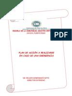 Plan de Emergencia de la Escuela Agustin Ortiz