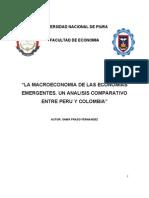 LA MACROECONOMIA DE LAS ECONOMIAS EMERGENTES. UN ANALISIS COMPARATIVO ENTRE PERU Y COLOMBIA