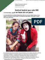 2012-08 Entepola, Un Festival Teatral Que Vale 500 Millones, Que Se Hace Sin Un Peso