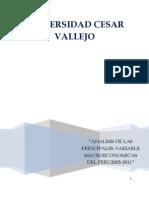 VARIABLES MACROECONOMICAS PERÚ