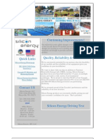 Silicon Energy August 2012 Newsletter