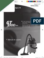 Manual aspirador de pó electrolux gt3000