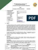 Silabus de Operaciones Unitarias II