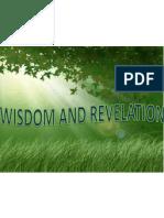 Wisdom and Revelation
