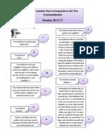 Los diez mandamientos - Os 10 mandamentos - The 10 commandments Inglés, Portugués y Español