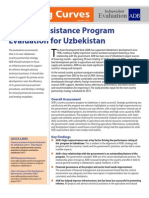 Country Assistance Program Evaluation for Uzbekistan