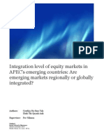 Are Markets Regionally or Globally Integrated
